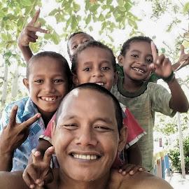 Arborek Island Boys by Andi Hermansyah - People Family