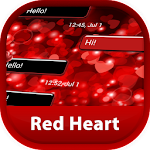 GO SMS Red Heart Icon