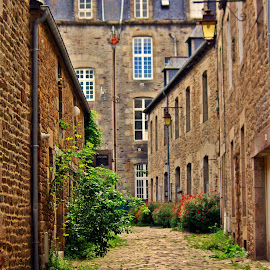 Old street in Dinan by Ciprian Apetrei - City,  Street & Park  Historic Districts ( street, traditional, brittany, architecture, city )