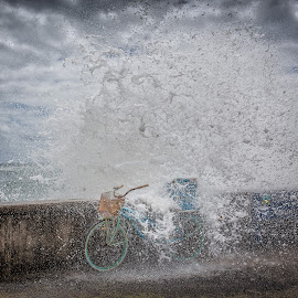 Splash by Luca Febbraio - Transportation Bicycles ( bike, splashing, splash, waves, wave, splash water photography, bicycle )
