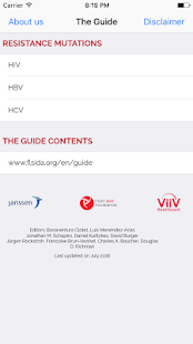 The HIV & Hepatitis Guide PRO - screenshot