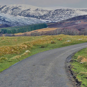 by Preslava Gancheva - Transportation Roads ( newtonmore, highlands, hills, glen, scotland )