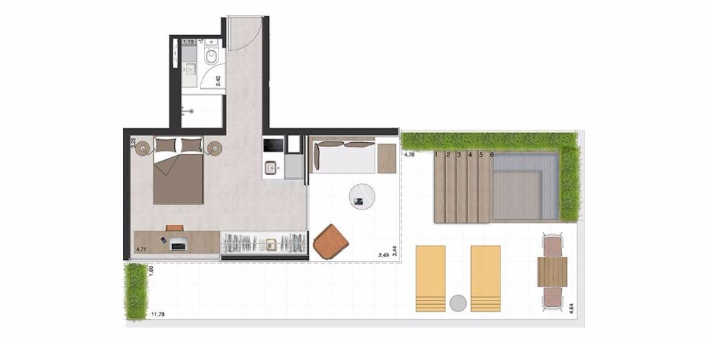 Garden Tipo 2 -  73 m²