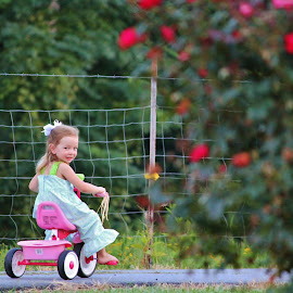 Catch me if you can by Jo Lynn Hope - Babies & Children Children Candids ( ride, child, tricycle, girl, kid )