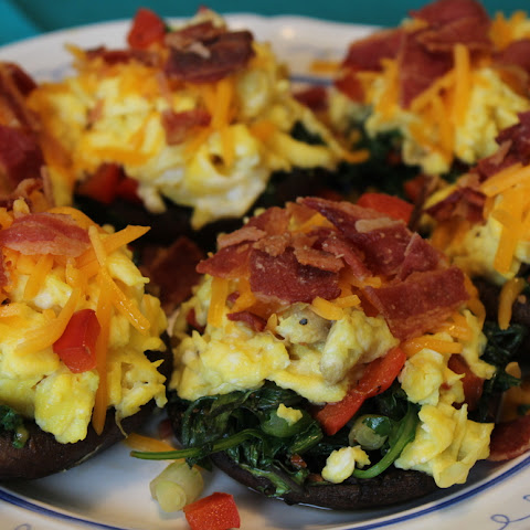 Portobello Egg and Kale Low Carb Breakfast