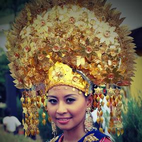 Traditional Headgear (Sanggul)  by Mohd Khairil Hisham Mohd Ashaari - People Portraits of Women ( women,  )