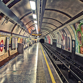 Tube by Josh Hilton - Travel Locations Subway ( platform, subway, london, tube, train, tunnel )