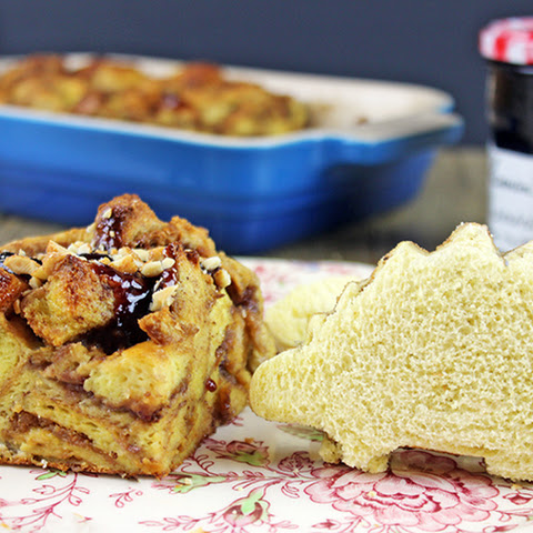 PB&J Uncrustables AND French Toast Bake in One!