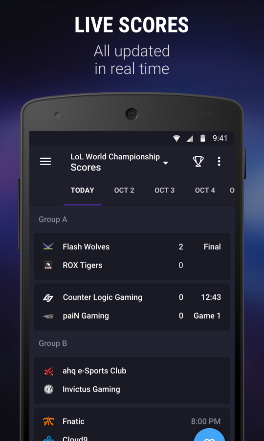 theScore esports – Screenshot