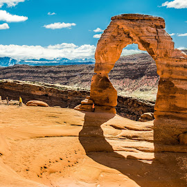 Delicate Arch by Jamie Cooper - Landscapes Travel ( camp, national park, camping, delicate, utah, walk, hike, delicate arch )