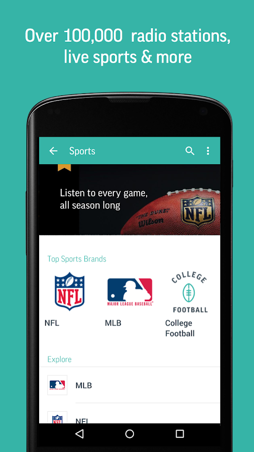 TuneIn Radio Pro - Live Radio Screenshot 1