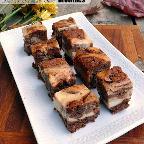 Bailey's Cheesecake Swirl Brownies