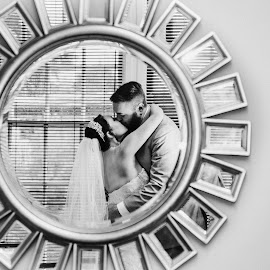 Reflected by Kate Gansneder - Wedding Bride & Groom ( mirror, wedding, couple, bride, groom )