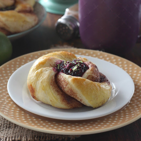 Blackberry Lime Filled Cinnamon Twists