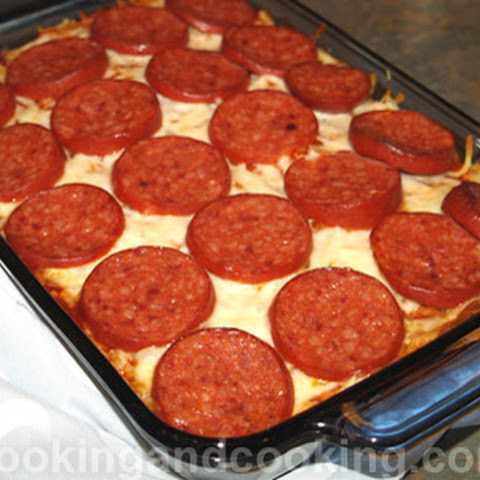 Orzo and Pepperoni Casserole