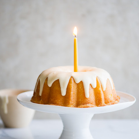 Insanely Moist Lemon Bundt Cake with Vanilla Icing