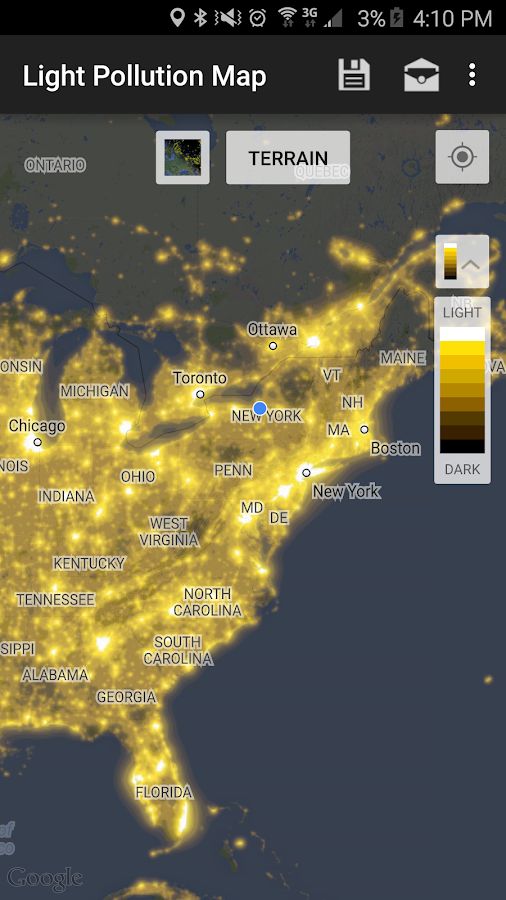Light Pollution Map Dark Sky Android Apps On Google Play