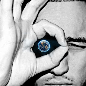 The All Seeing Eye by Jackson Visser - Digital Art Things ( planet, earth, space, portrait, globe, world, eye,  )