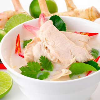 Thai Chicken Soup in Coconut Milk (Tom Kha Gai)