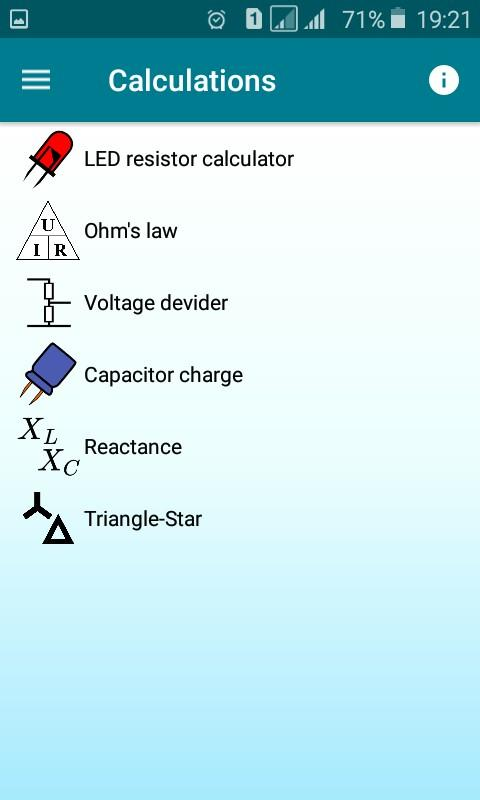 Radio components calculator Screenshot 3