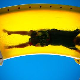Water Slide Boy by Joseph Usher - Sports & Fitness Swimming ( carnival, 2015, water slide, sunshine, cruise, western caribbean )