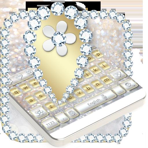 Luxury Gold & Silver Keyboard