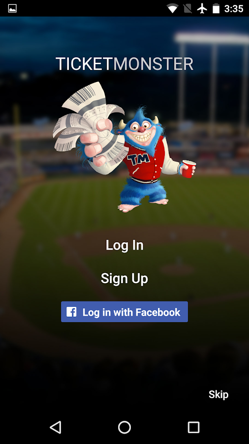 Ticket Monster Screenshot 1