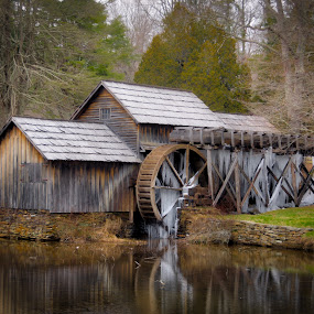 Frozen In Time by Randell Whitworth - Landscapes Waterscapes ( water, mabry, mill, parkway, virgina, blue ridge, frozen )