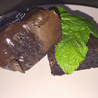 Bunny Had a Meltdown Chocolate Brownies with Kentucky Bourbon and Chocolate Mint Ganache
