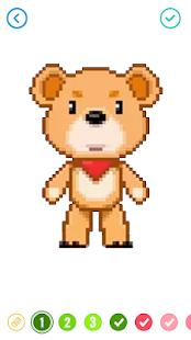 Pixel Sandbox: Cartoon Number Coloring