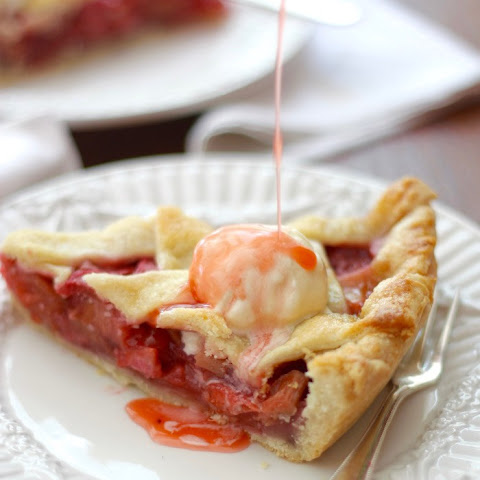 Strawberry Rhubarb Latice-Top Pie