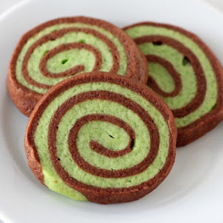 Mint Chocolate Pinwheel Cookies