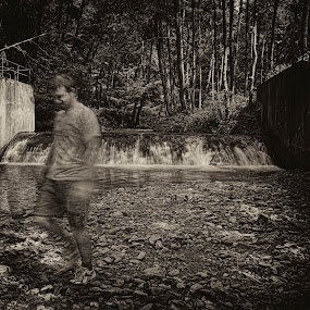 I am still here by Delia Galhotra - People Street & Candids ( sepia, digiphotography, nature, forest, ghost, brother, people, man )