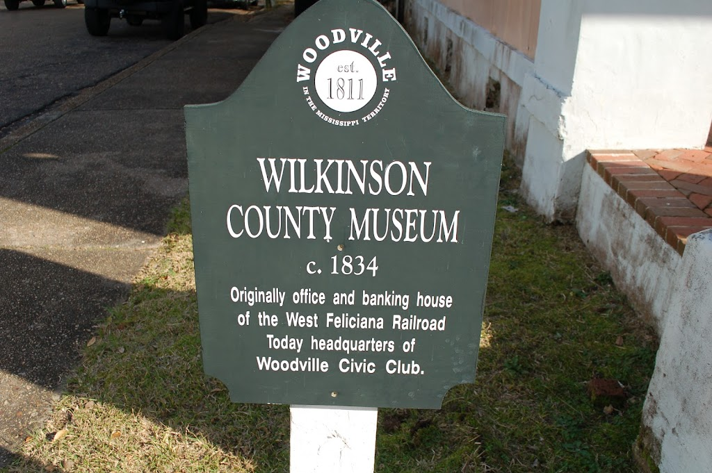 c. 1834Originally office and banking house of the West Feliciana Railroad. Today headquarters of Woodville Civic Club.