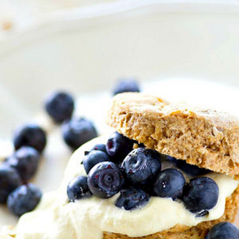 Oatmeal Blueberry Shortcakes with Lemon Whipped Cream