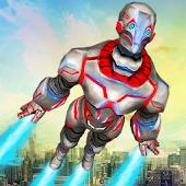 Superheld Fliege Robot Rettung