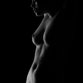 body sculpture by Sandro Bischofberger - Nudes & Boudoir Artistic Nude ( body, sexy, girl, nude, low key, black and white )