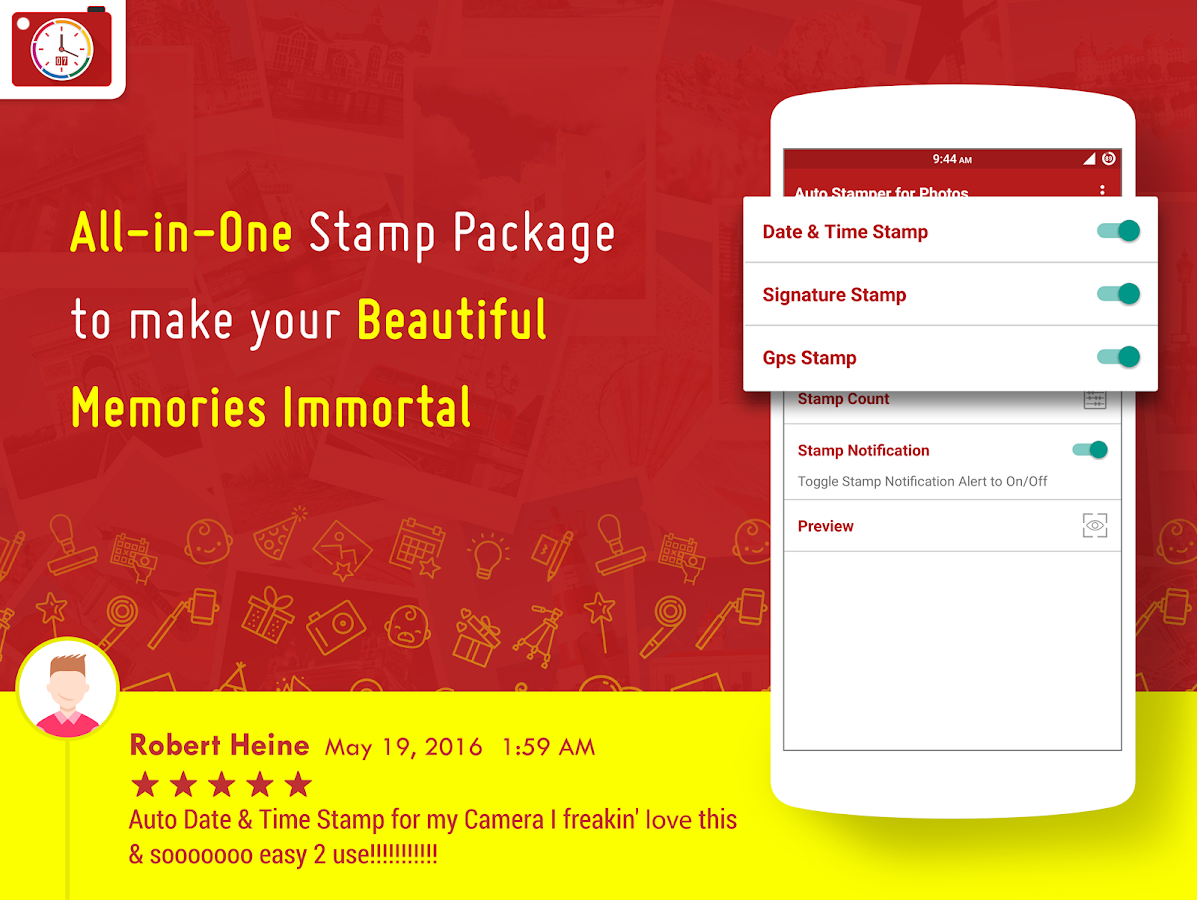 Auto Stamper: Stamp your Photo Screenshot 4