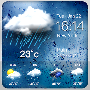 Rainy Weather Widget For PC