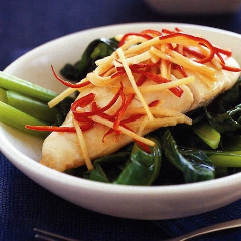Chicken parcels with Asian greens