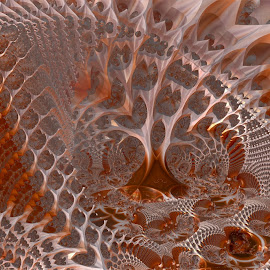 Chatter Burn by Rick Eskridge - Illustration Abstract & Patterns ( abstract, illustration, mb3d, fractal, twisted brush )
