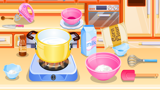 cook cake with berries games - screenshot