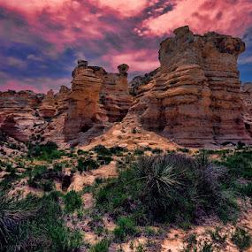 Castle Rock by Jack Powers - Landscapes Mountains & Hills ( mountains, castle rock, rock formation, scenic, kansas )