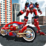 Real Motorbike Transform Robot Icon