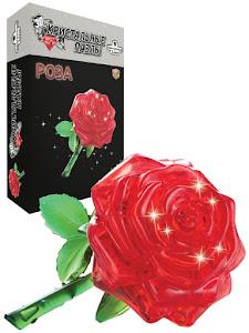 3D Crystal Puzzle Роза L New