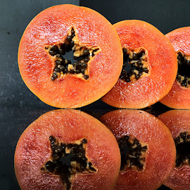 ripe and juicy cut papaya by Janette Ho - Food & Drink Fruits & Vegetables