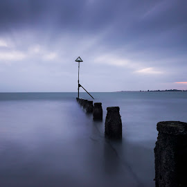 Beach by Oliver van Zwanenberg - Landscapes Beaches ( blue, beautiful, sea, seascape, beach, landscape, slow shutter )