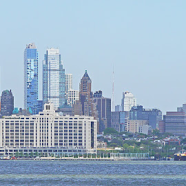 A Manhattan Vista by Joatan Berbel - City,  Street & Park  Vistas ( city parks, paysage, colorful, vista, landscape )