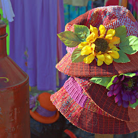 Farmers Market Hats by Dale Fillmore - Artistic Objects Clothing & Accessories ( hats, fashion, color, artistic, design,  )