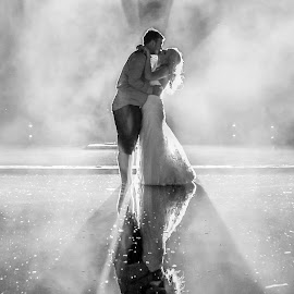 Reflecting  by Lodewyk W Goosen (LWG Photo) - Wedding Bride & Groom ( wedding photography, wedding photographers, wedding day, weddings, wedding, groom and bride, bride and groom, wedding photographer, bride, groom )